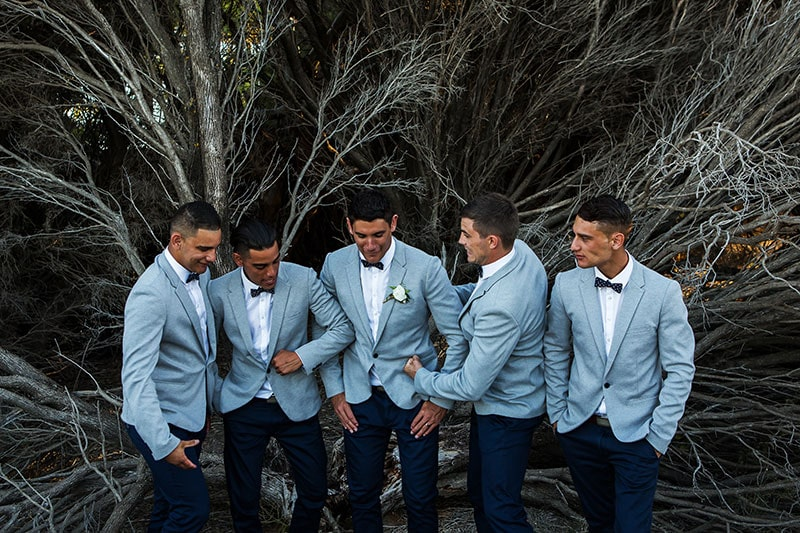 perth wedding photographer rottnest island wedding image of bridal party on rottnest island