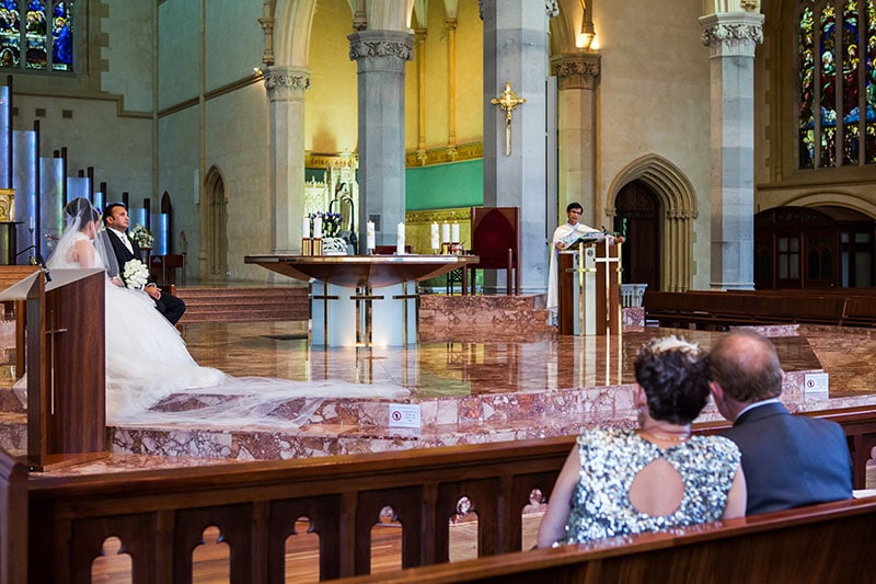 perth wedding photography perth city wedding image of bride and groom in church