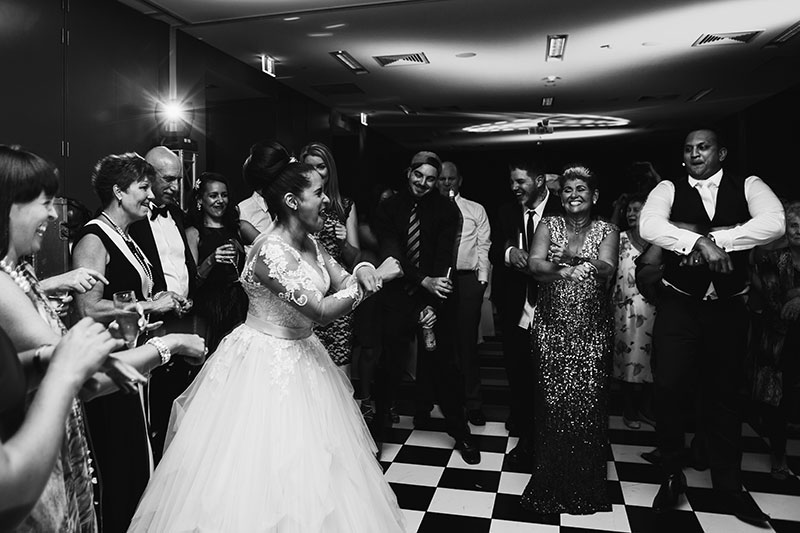 perth wedding photography perth city wedding image of bride and groom dancing at reception