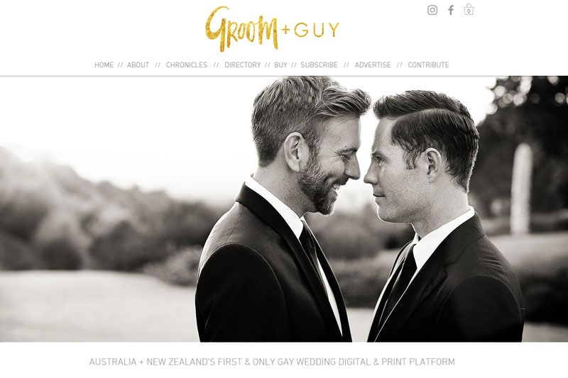 top australian wedding blogs image of groom and guy blog