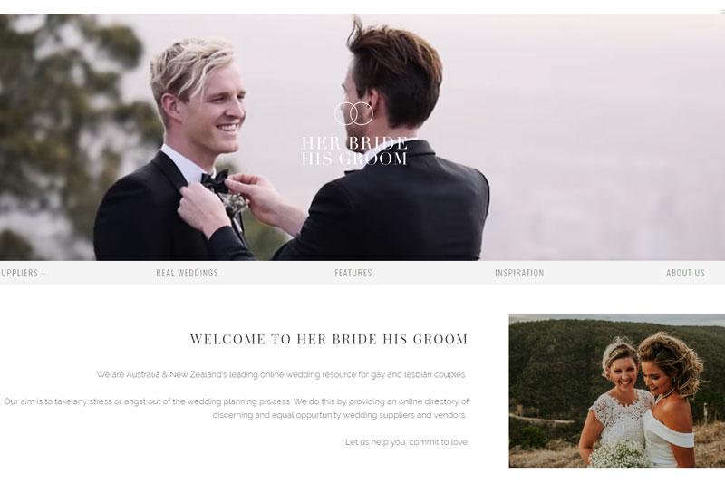 top australian wedding blogs image of her bride his groom blog