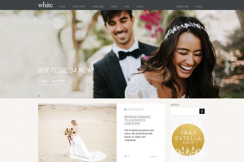 top australian wedding blogs image of white magazine blog