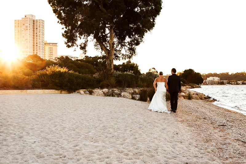 perth wedding planning wedding photo locations perth image of bride and groom walking on beach in south perth