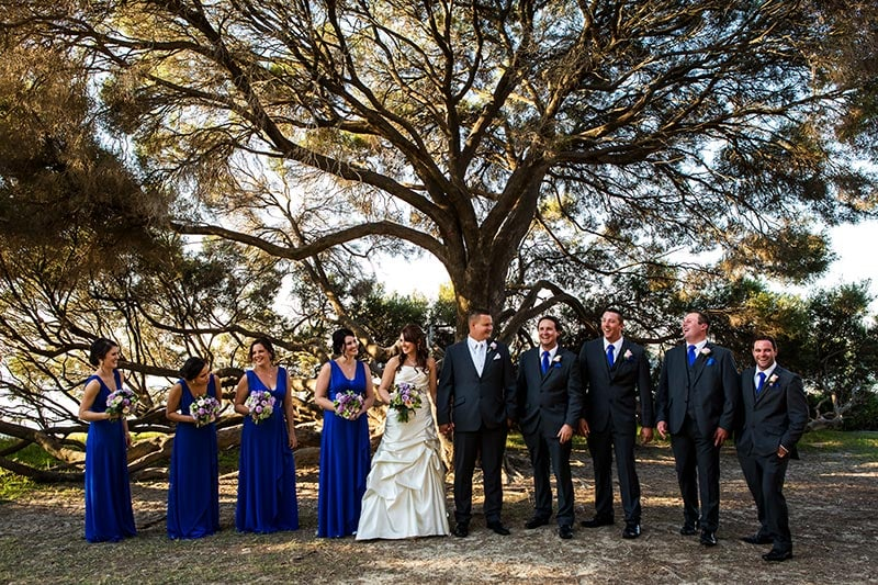 perth wedding planning wedding photo locations perth image of bridal party at point walter reserve