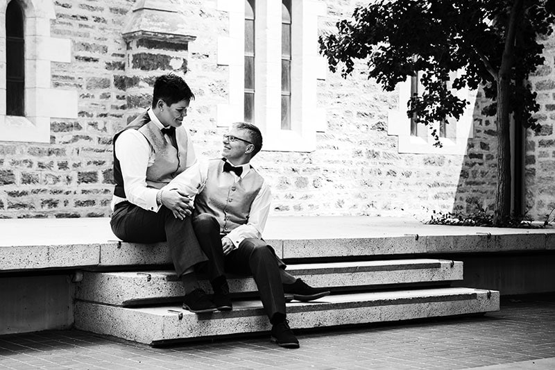 perth wedding planning wedding photo locations perth image of two brides at brookfield place perth