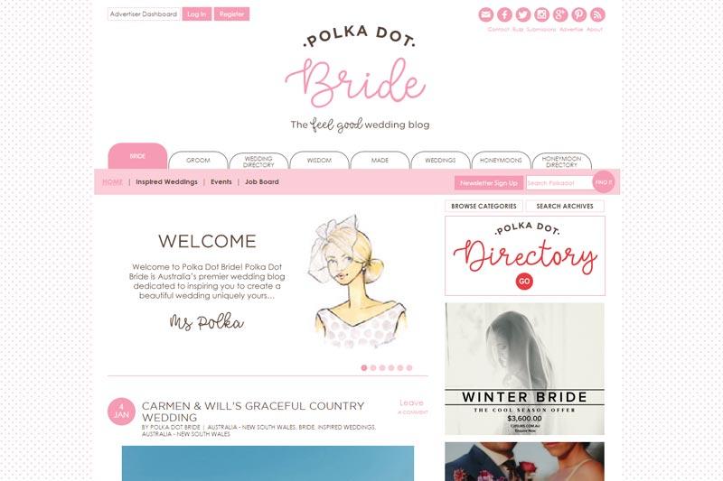 top australian wedding blogs image of polka dot bride blog