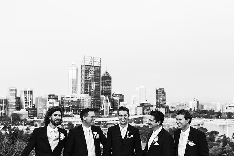 wedding photographer perth kings park wedding image of groomsmen