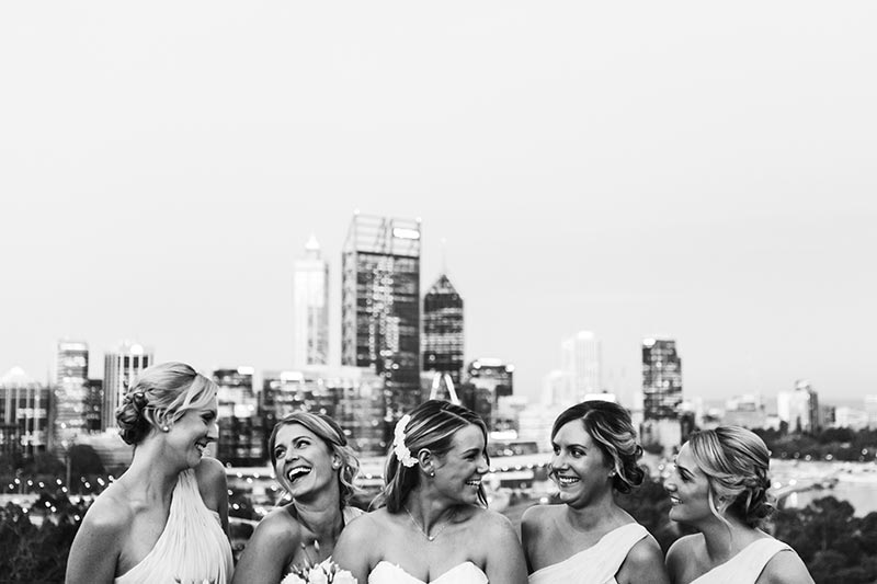 wedding photographer perth kings park wedding image of bridesmaids