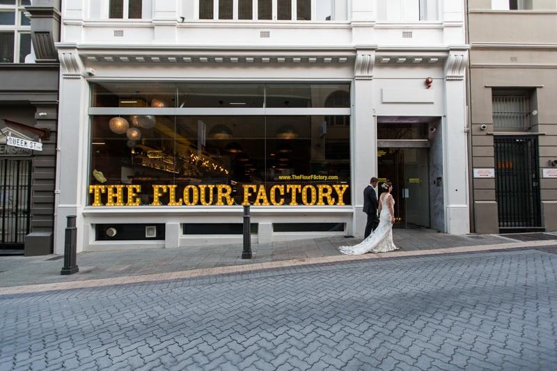 flour factory wedding perth city wedding wolf lane wedding rooftop wedding perth wedding photographer