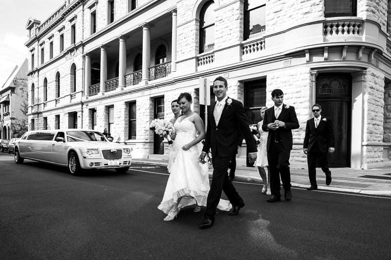 fremantle wedding photographer fremantle wedding perth wedding photographer image of bride and groom walking in street