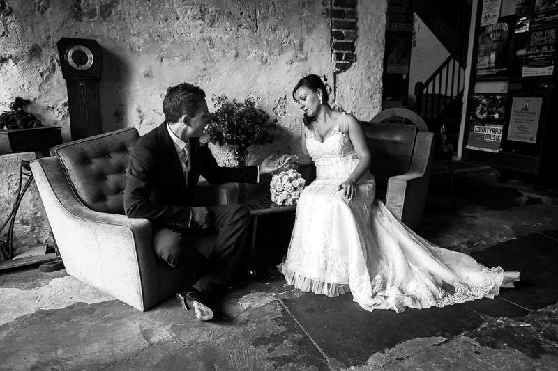 fremantle wedding photographer fremantle wedding perth wedding photographer image of bride and groom sitting in moore and moore cafe