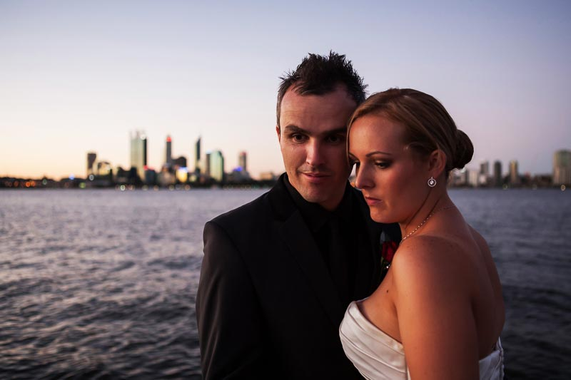 perth wedding photographer south perth wedding image of bride and groom looking down