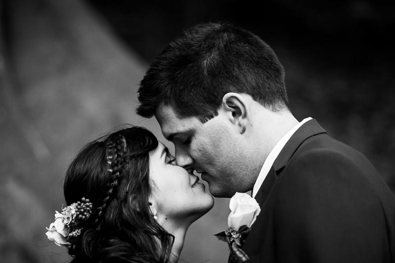 wedding photographer perth matilda bay wedding image of bride and groom about to kiss