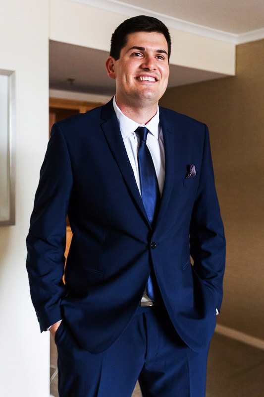 wedding photographer perth matilda bay wedding image of groom in his suit