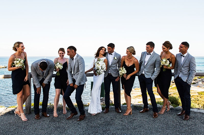 perth wedding photographer rottnest island wedding image of bridal party on rottnest island