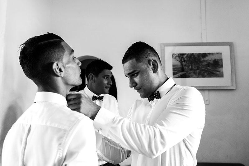 perth wedding photographer rottnest island wedding image of groomsmen getting ready