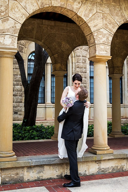 perth wedding photographer perth wedding image of bride and groom at uwa