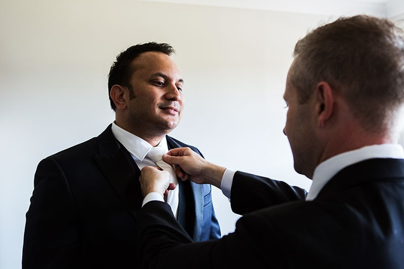 perth wedding photography perth city wedding image of groom getting ready