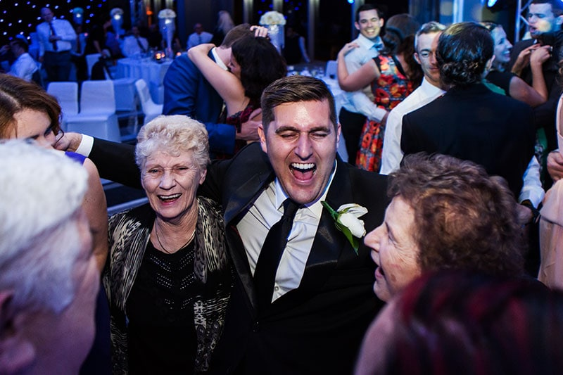 perth wedding photography perth city wedding image of guests dancing at reception