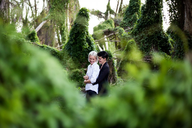 best wedding and engagement photo locations perth perth wedding photographer image of same sex engagement shoot at the secret garden