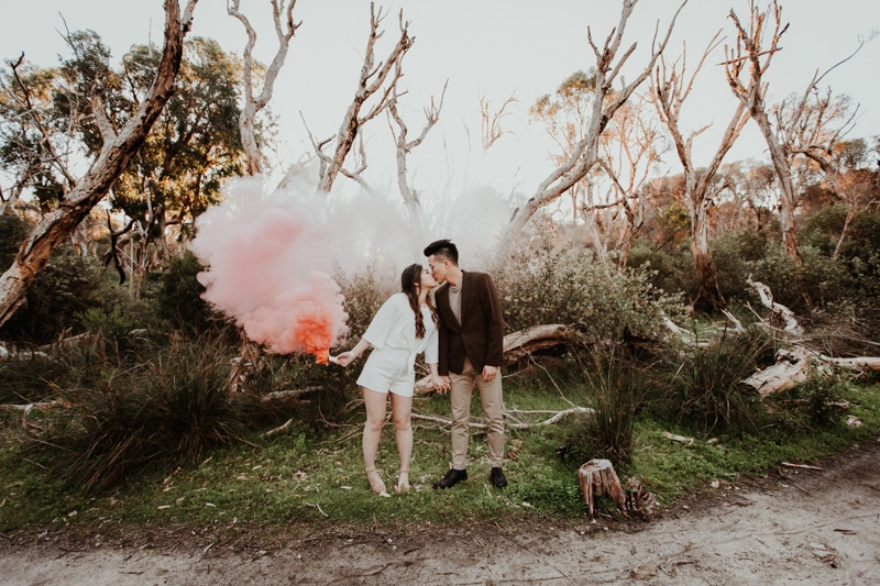 best wedding and engagement photo locations perth perth wedding photographer image of yanchep national park engagement shoot
