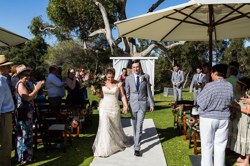 fremantle wedding photographer fremantle wedding perth wedding photographer image of bride and groom walking down isle