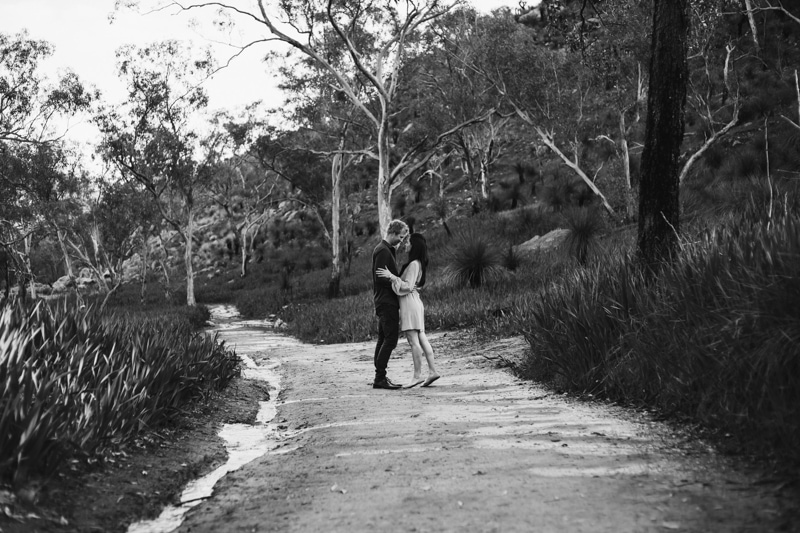 bells rapids engagement shoot perth engagement shoot perth wedding photographer image of couple at bells rapids