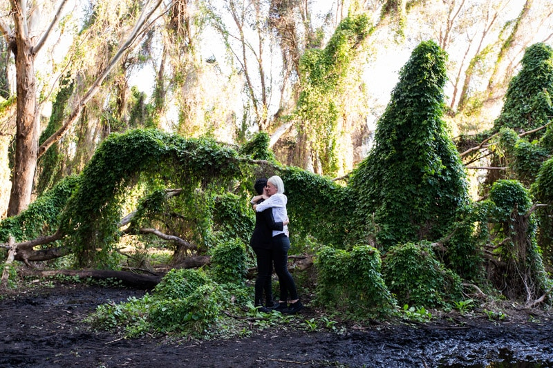 perth same sex wedding photographer lesbian engagement shoot secret garden perth engagement photos perth wedding photographer image of lesbian same sex engagement shoot
