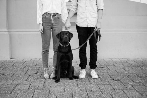 Fremantle Wedding Photographer | Fremantle Dog Engagement Photos | Ashlee & Nathan