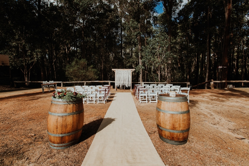 nanga bush camp wedding timbarra dwellingup wedding forest wedding venue perth wedding photographer image of nanga bush camp wedding at timbarra